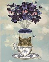 Owl In Teacup Framed Print