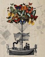 Butterfly Airship Fine Art Print