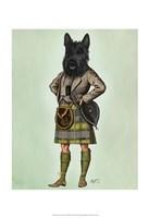 Scottish Terrier in Kilt Framed Print