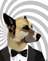 Debonair James Bond Dog Fine Art Print