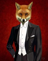 Fox In Evening Suit Portrait Fine Art Print
