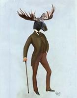 Moose In Suit Full Fine Art Print