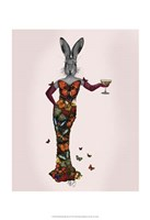 Rabbit Butterfly Dress Framed Print