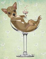 Chihuahua in Cocktail Glass Fine Art Print