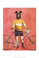 Greyhound Cyclist Fine Art Print