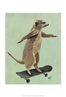 Meerkat On Skateboard Fine Art Print