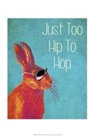 Too Hip To Hop Blue Framed Print