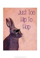 Too Hip To Hop Pink Framed Print