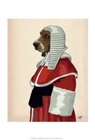 Basset Hound Judge Portrait II Fine Art Print
