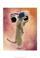 Meerkat and Boom Box Fine Art Print