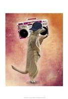Meerkat and Boom Box Fine Art Print