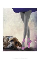 Bloodhound And Ballet Dancer Fine Art Print