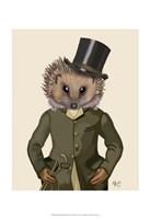 Hedgehog Rider Portrait Framed Print