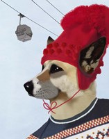 Dog in Ski Sweater Fine Art Print