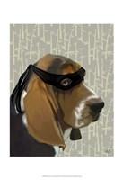 Ninja Basset Hound Dog Fine Art Print