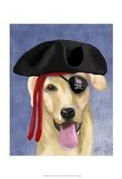 Yellow Labrador Pirate Framed Print