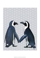 Penguins In Love Framed Print
