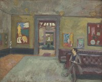 Room in the Second Post-Impressionist Exhibition in 1912 Fine Art Print