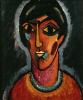 Byzantine Woman with Pale Lips, 1935 Fine Art Print