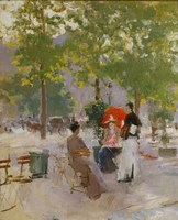 Open-air Parisian Cafe Fine Art Print
