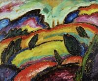 Huegel - Hill, 1912 Fine Art Print