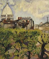 Sacre-Coeur Seen from the Garden of Rue Cortot, 1916 Fine Art Print