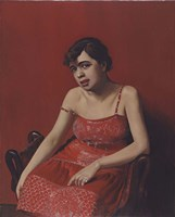 Romanian in a Red Dress, 1924 Fine Art Print