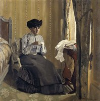 Woman Sewing, 1905 Fine Art Print