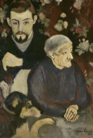 Utrillo with his Grandmother and Dog, 1910 Fine Art Print