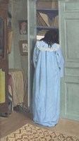 Woman in Blue Searching a Cabinet, 1903 Fine Art Print