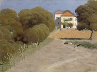 House with Red Roof, 1924 Fine Art Print