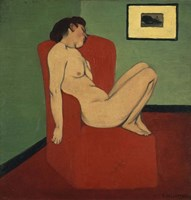 Woman Seated in an Armchair Fine Art Print