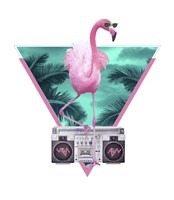 Miami Flamingo Fine Art Print