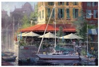 Dockside Cafe Fine Art Print
