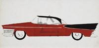 Car, c.1959 (red) Fine Art Print