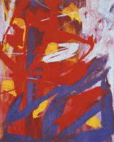 Abstract Painting, c. 1982 (indigo, red, white) Fine Art Print