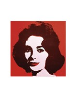 Liz, 1963 (red) Framed Print