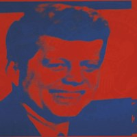 Flash-November 22, 1963, 1968 (red & blue) Fine Art Print