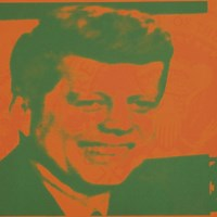 Flash-November 22, 1963, 1968 (orange & green) Fine Art Print