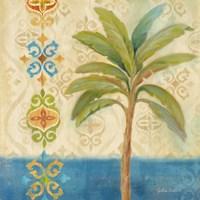 Ikat Palm I Framed Print