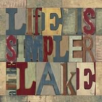 Lake Living Printer Blocks III Framed Print