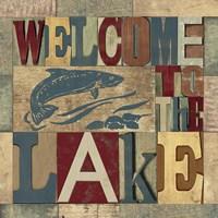 Lake Living Printer Blocks IV Framed Print