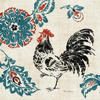 Toile Rooster II Fine Art Print