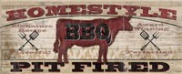 Homestyle BBQ I (Cow) Framed Print