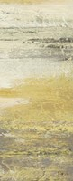 Siena Abstract Yellow Gray Panel I Fine Art Print