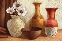 Gentle Spice Vessels Framed Print