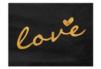 Gold Love Framed Print