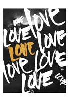 Love Letters Gold Fine Art Print