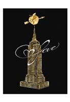 Empire Golden Love Framed Print
