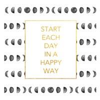 Happy Way (Square) Framed Print
